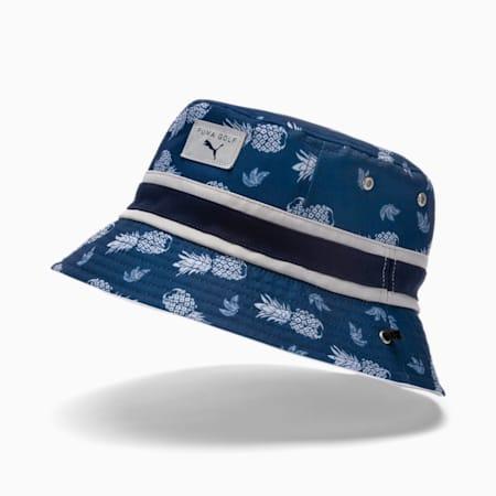 Reversible Islands Bucket Men's Golf Hat, Dark Denim, small-SEA