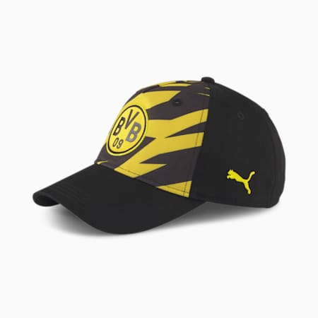 BVB ftblCORE Soccer Cap, Puma Black-Cyber Yellow, small