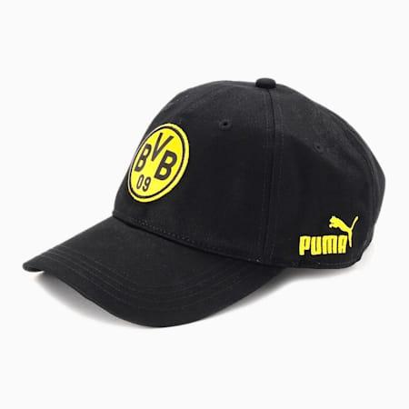 ドルトムント BVB FTBLCULTURE ベースボール キャップ, Puma Black-Cyber Yellow, small-JPN