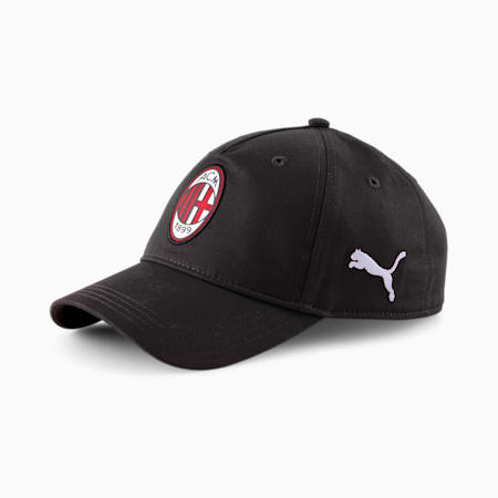 AC Milan 2.0 Team Football Cap, Puma Black-Tango Red, small-GBR