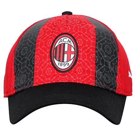 AC Milan ftblCORE Baseball Cap, Puma Black-Tango Red, small-IND