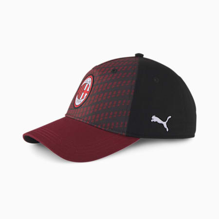 AC Milan ftblCORE Baseball Cap, Cordovan-Puma Black, small-IND