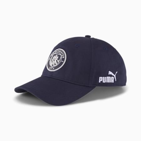 Manchester City ftblCulture Football Baseball Cap, Peacoat-Puma White, small