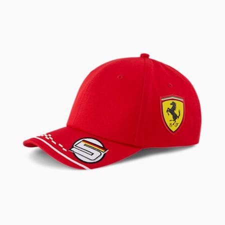 Scuderia Ferrari Vettel Kids' Baseball Cap, Rosso Corsa, small