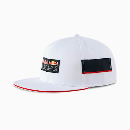 Red Bull Racing Lifestyle Flat Brim Cap, Puma White, small
