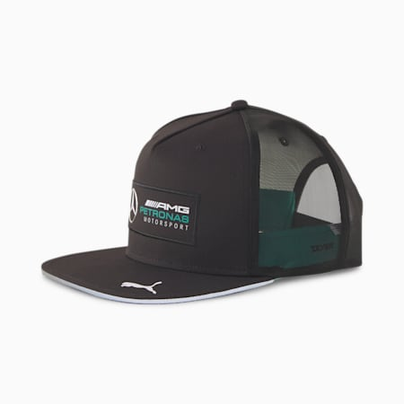 Cappellino Mercedes con visiera piatta, Puma Black, small
