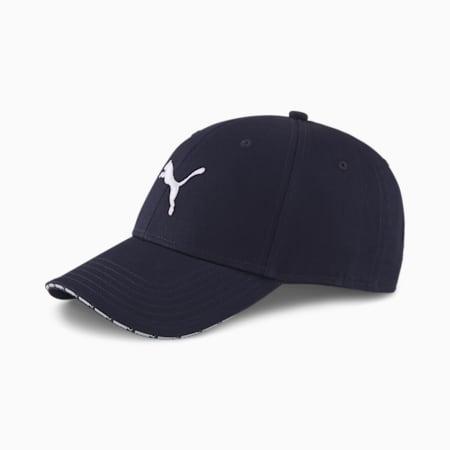 Cappellino da baseball in tessuto, Peacoat, small