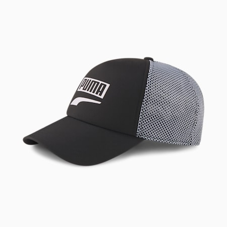 Trucker Snapback Cap, Puma Black, small