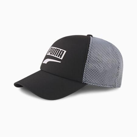 Trucker Snapback Cap, Puma Black, small-GBR