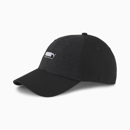 Fabric Baseball Cap, Puma Black, small-GBR