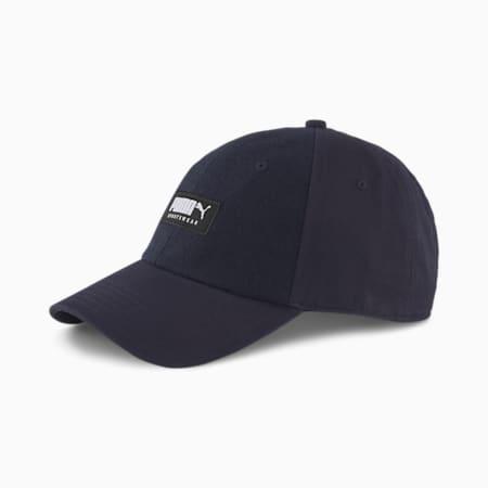 Fabric Baseball Cap, Peacoat, small
