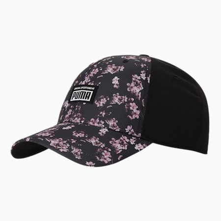 Academy AOP Unisex Cap, Puma Black-flower AOP, small-IND