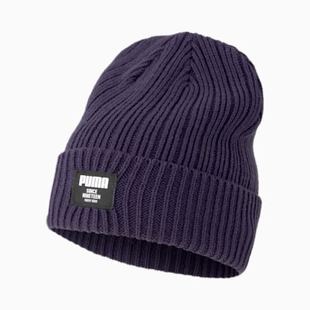 Classic Ribbed Beanie, Peacoat, small