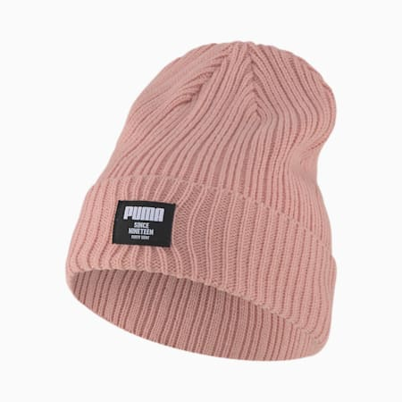 Classic Ribbed Beanie, Bridal Rose, small