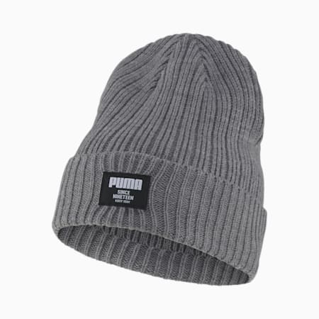 Classic Ribbed Beanie, Medium Gray Heather, small