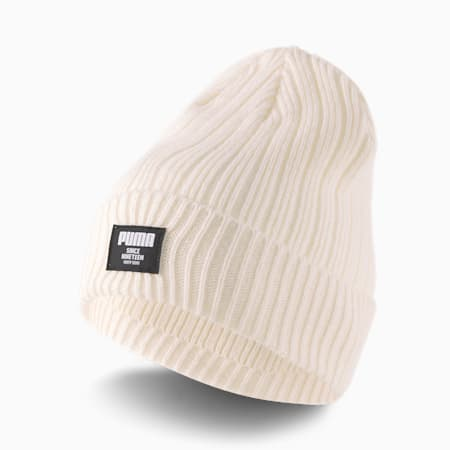 Classic Ribbed Beanie, Ivory Glow, small