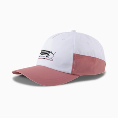 The Unity CollectionTFS Performance Cap, Puma White-Foxglove, small