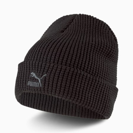 Archive Mid Fit Unisex Beanie, Puma Black-gray Logo, small-IND