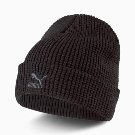 Gorro de lana Archive de calce medio, Puma Black-gray Logo, pequeño