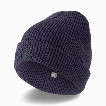 Bonnet semi-ajusté Archive, Bleu caban - Logo noir, petit