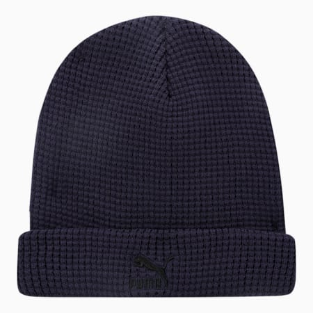 Archive Mid Fit Unisex Beanie, Peacoat-black Logo, small-IND