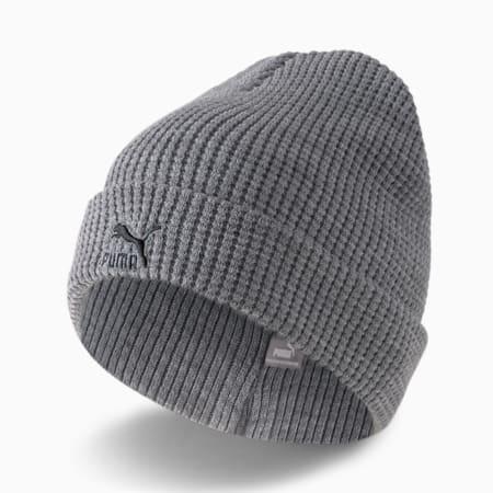 Gorro de lana Archive de calce medio, Medium Gray Heather-black Logo, pequeño