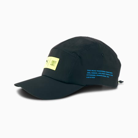 Casquette Running PUMA x FIRST MILE, Puma Black-Fizzy Yellow, small