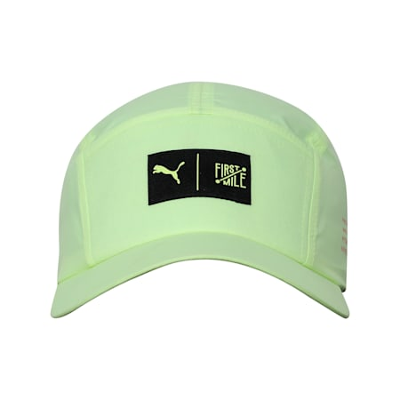PUMA x FIRST MILE Running Cap, Fizzy Yellow, small-IND