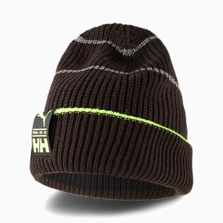 PUMA x HELLY HANSEN Beanie, Puma Black-Safety Yellow, small