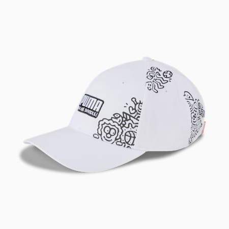 PUMA x MR DOODLE Cap, Puma White-Puma Black, small-SEA