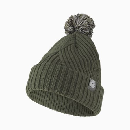 Circle Cat Removable Pom Women's Golf Beanie, Thyme, small