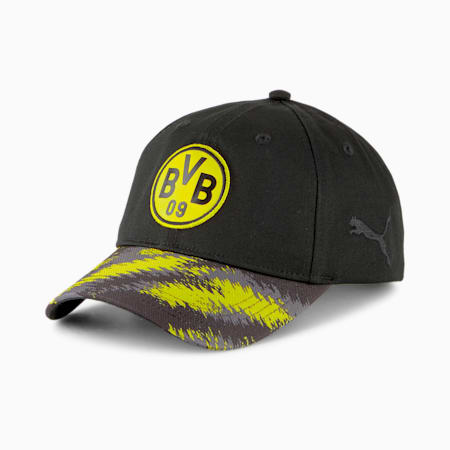 BVB Iconic Archive Football Baseball Cap, Puma Black-Cyber Yellow, small