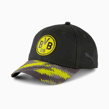 BVB Iconic Archive Football Baseball Cap, Puma Black-Cyber Yellow, small