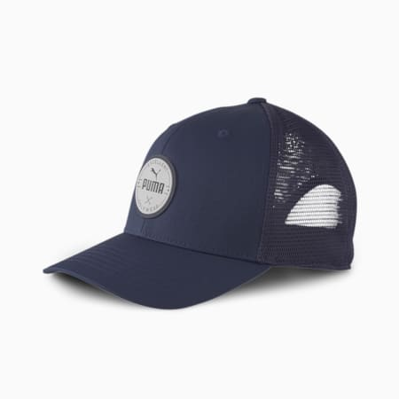 Circle Patch Herren Golf-Trucker-Cap, Peacoat, small
