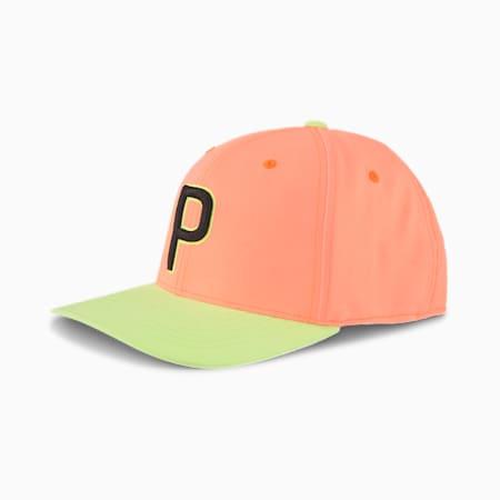 OSG Men's Golf Cap, Nrgy Peach-Fizzy Yellow, small