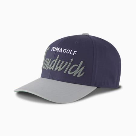 샌드위치 시티 스냅 백 캡/Sandwich City Snapback Cap, Peacoat, small-KOR