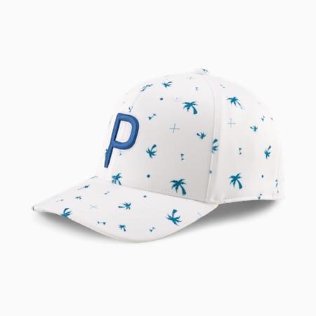 ゴルフ パームス パターン 110 P スナップバック キャップ, Digi-blue-Bright White, small-JPN