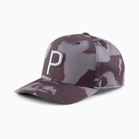 ゴルフ ペイント パターン 110 P スナップバック キャップ, Puma Black, small-JPN