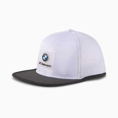 BMW M Motorsport Flat Brim Cap, Puma White, small-IND