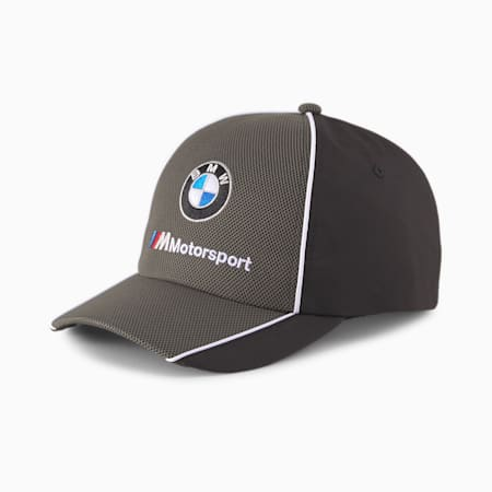 BMW M Motorsport Youth Baseball Cap, Puma Black, small-IND