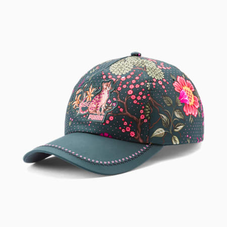 PUMA x LIBERTY Women's Garden Cap, Green Gables-AOP, small-IND