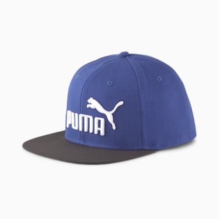 PUMA Flat Brim Cap, Elektro Blue-Black-White, small