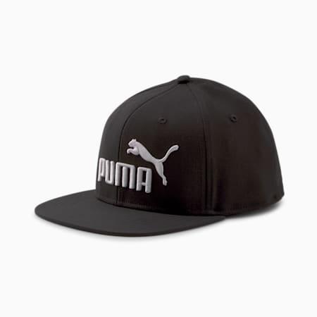 Casquette à visière plate PUMA, noir Puma-gris violet, petit