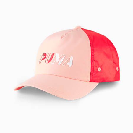 Women's Style Baseball Cap, Apricot Blush-Poppy Red, small-IND