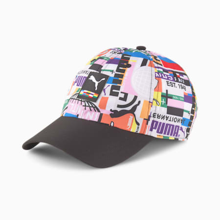 PUMA International Cap, Puma Black-AOP, small-SEA