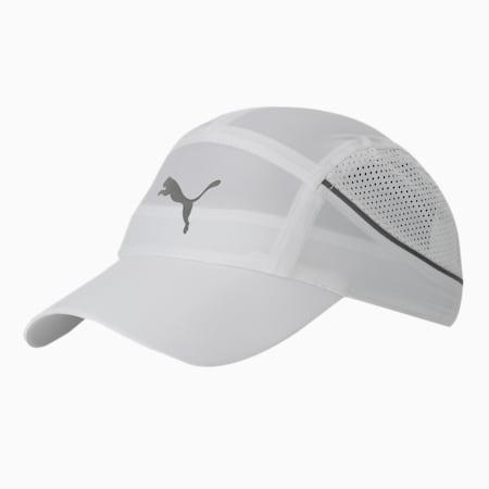 Lightweight Unisex Running Cap, Puma White, small-IND