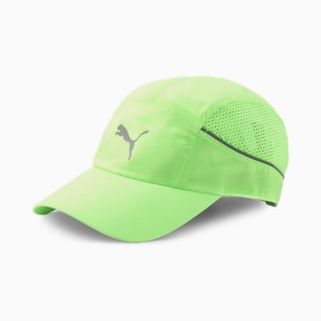 Lightweight Unisex Running Cap, Green Glare, small-IND