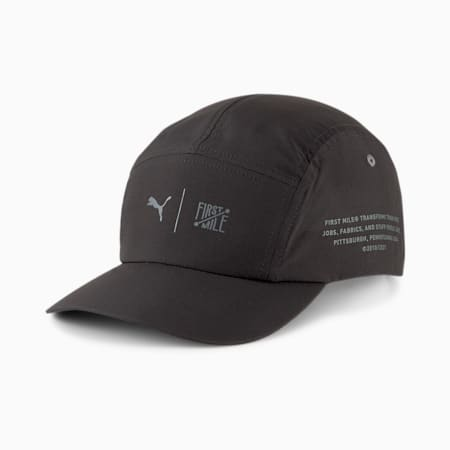 PUMA x FIRST MILE Training Cap, Puma Black, small-GBR