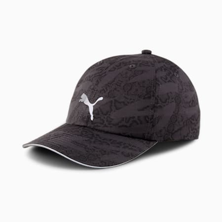 Quick Dry Women's Running Cap, Puma Black-untamed AOP, small-IND
