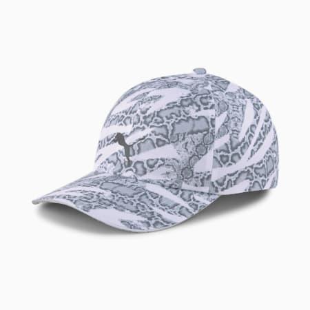 Gorra de running de secado rápido para mujer, Puma White-untamed AOP, small